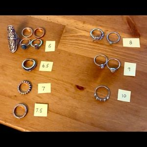 Jewelry - Women's rings, various sizes